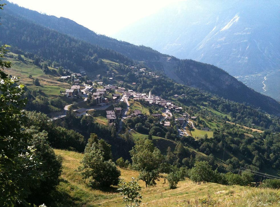 Albinen, near Leukerbad in Valais.