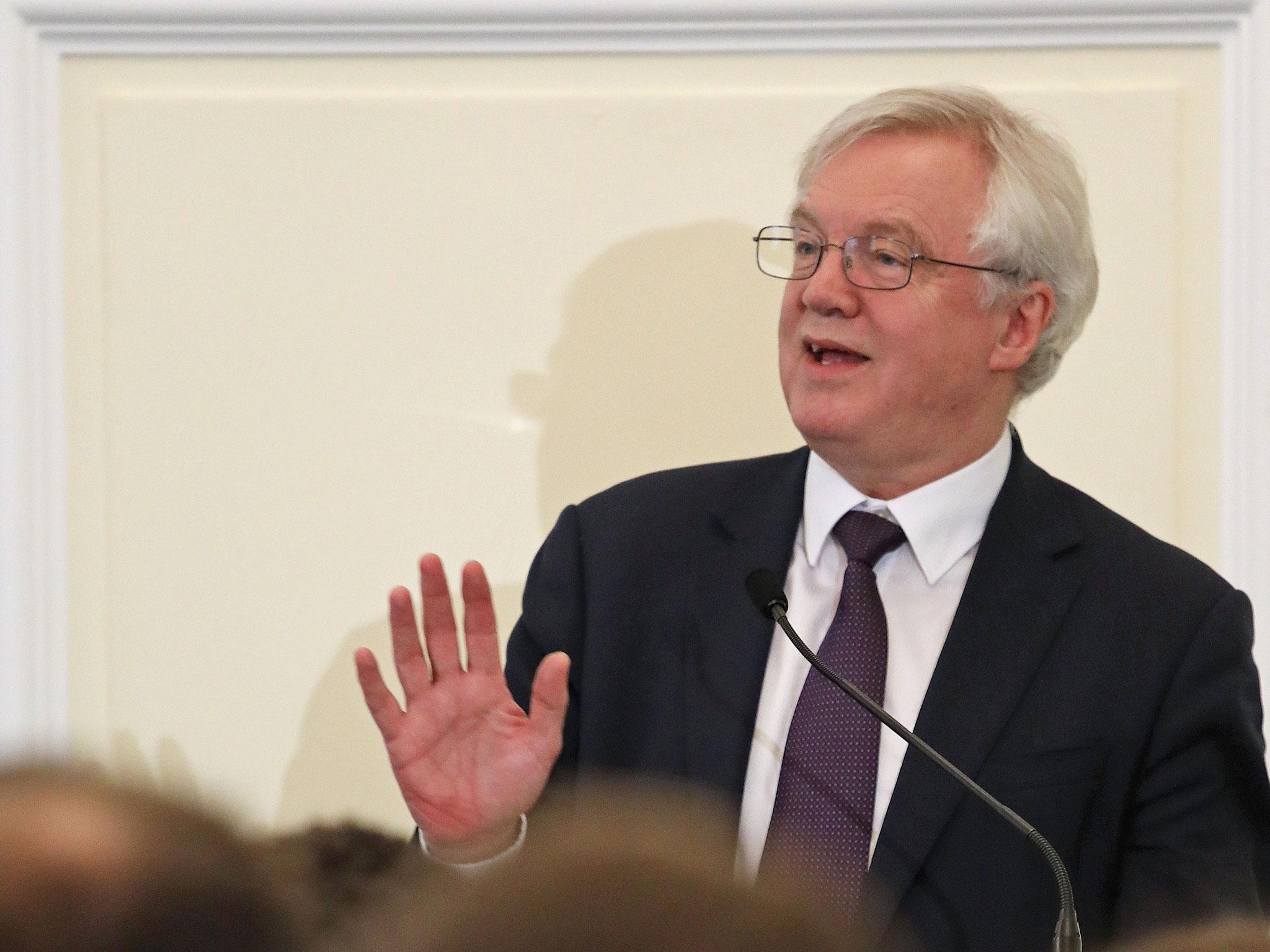 David Davis rushes to repair damage after 'undermining trust' in negotiations