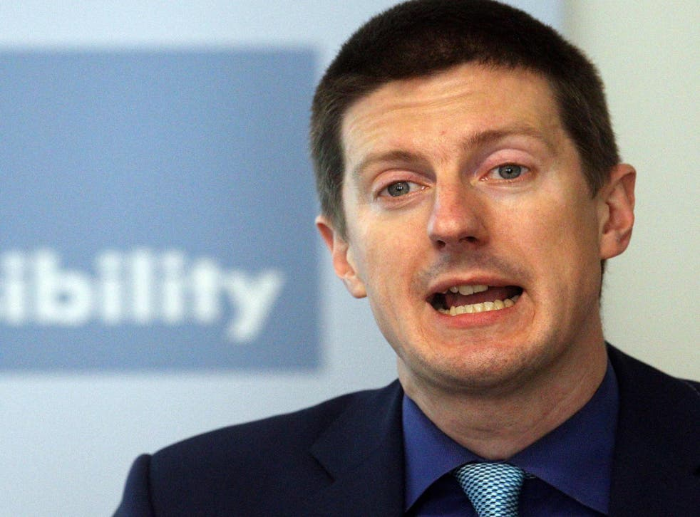 Office for Budget Responsibility (OBR) chairman Robert Chote speaks at a press conference at the Institute for Government, London, as the organisation publishes its first Fiscal Sustainability report