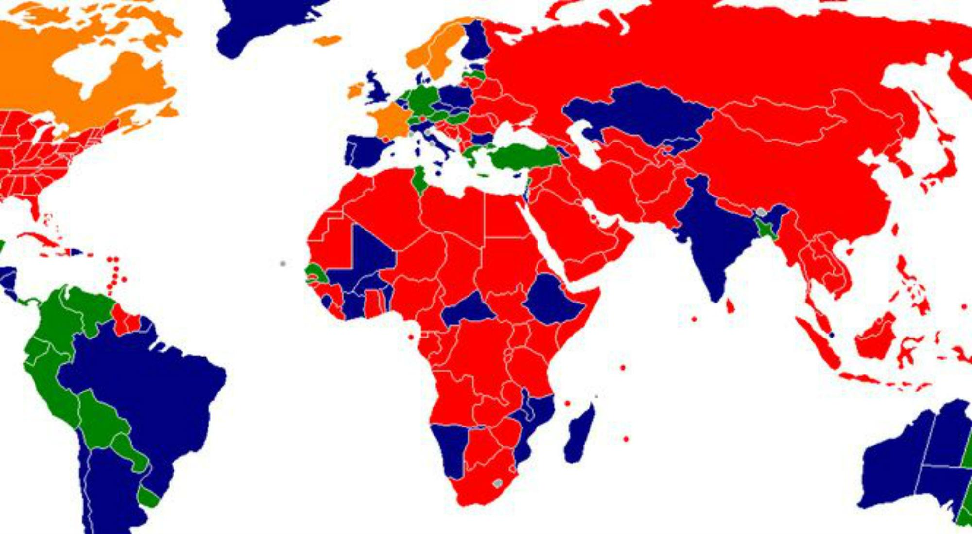 The World Map Of Prostitution Indy100