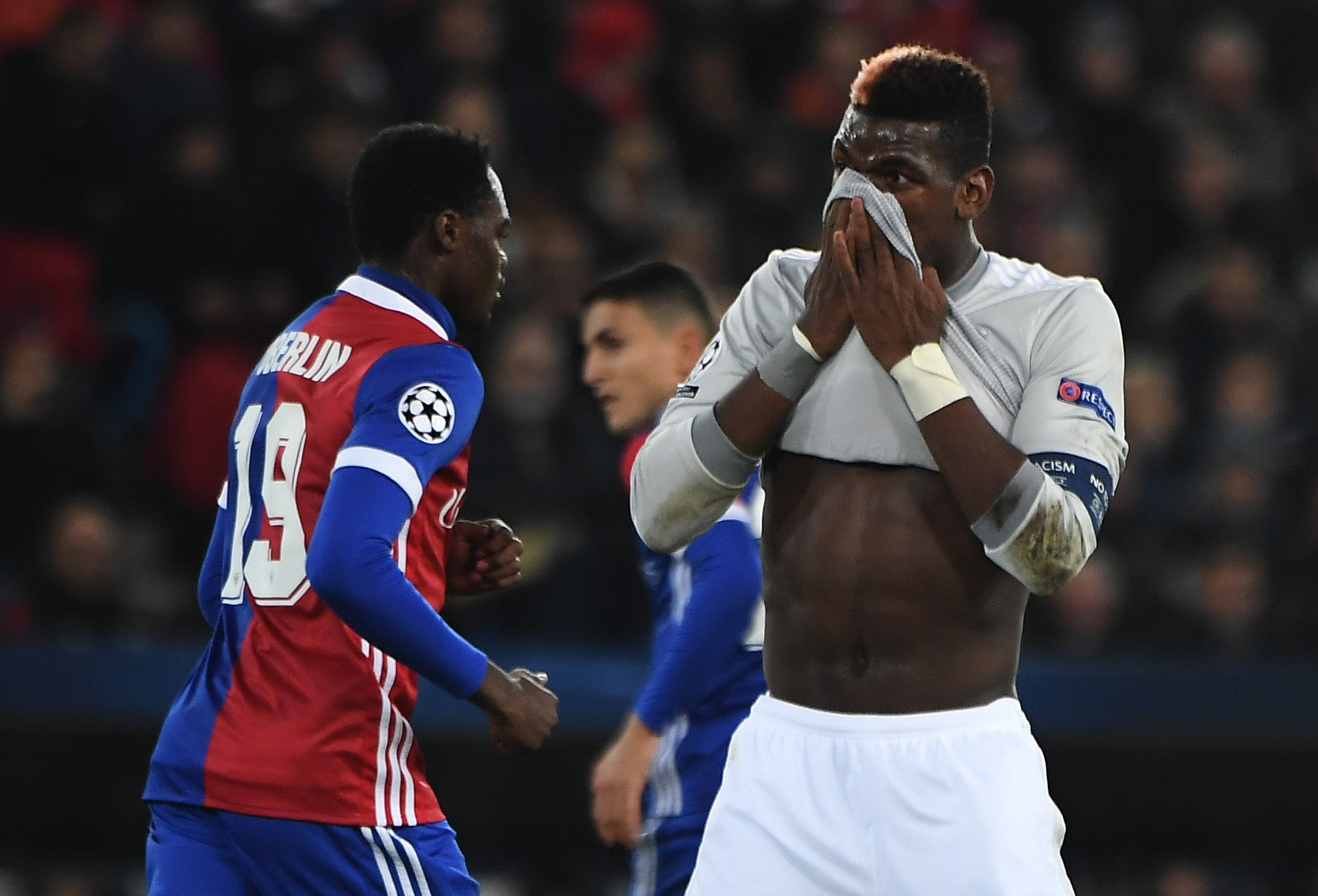 Jose Mourinho says Manchester United should have scored five first-half goals after defeat in Basel