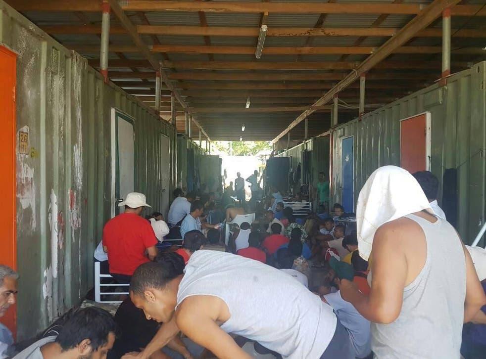 Men occupy the closed Manus Island immigration detention centre in Papua New Guinea