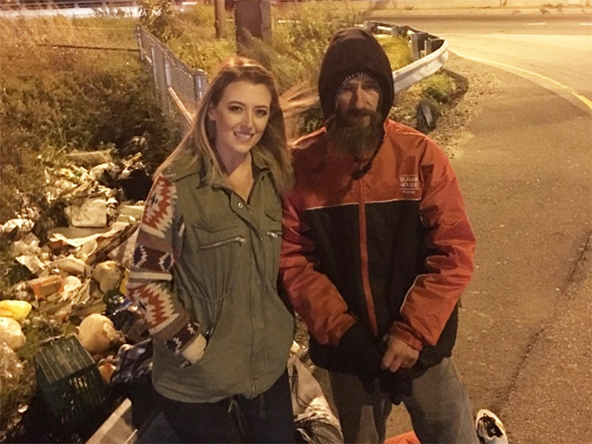 US woman raises more than $100,000 for homeless man who used last $20 to buy her petrol when she ran out