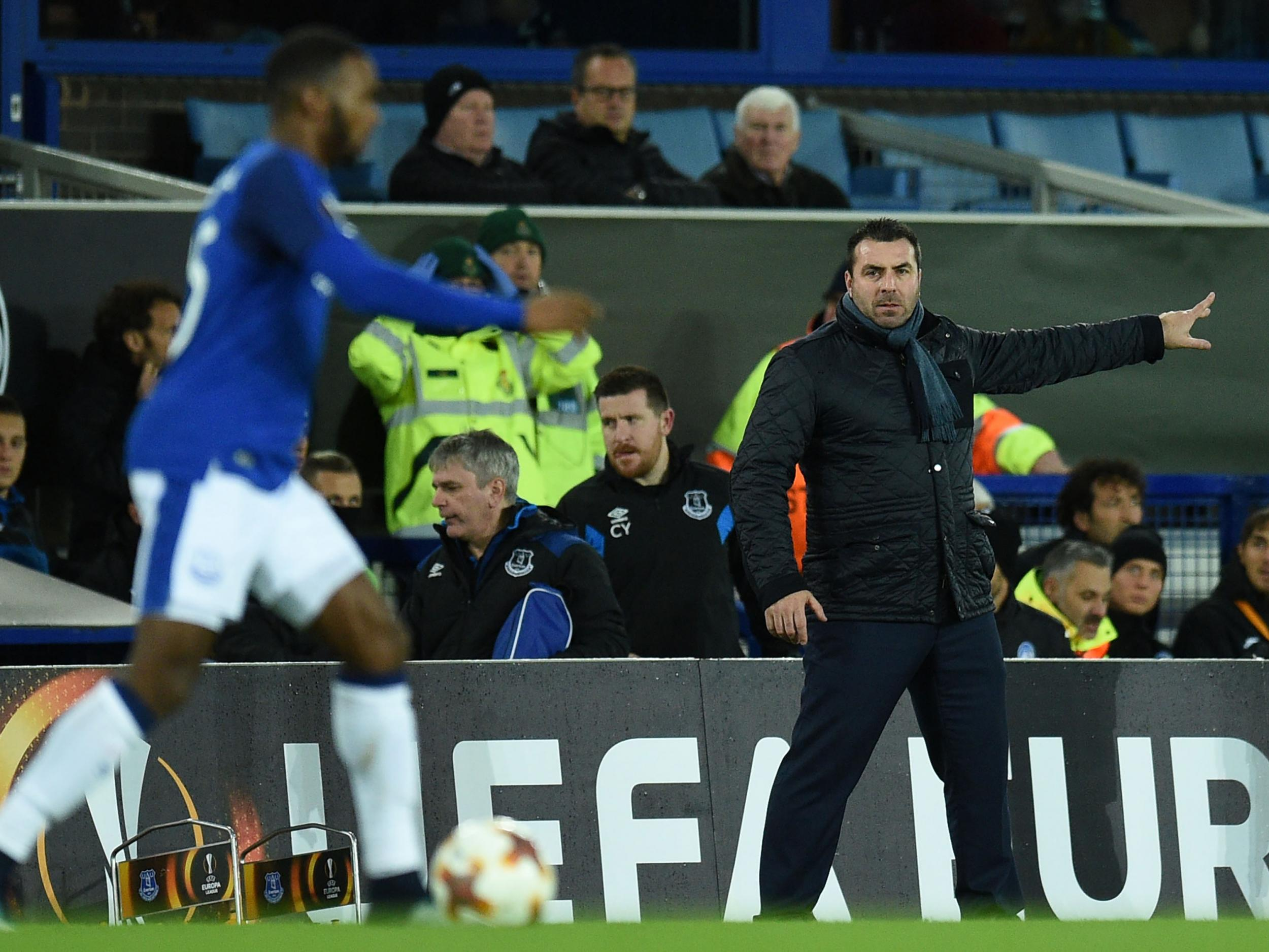David Unsworth turns on Everton players after humbling 5-1 Europa League defeat to Atalanta