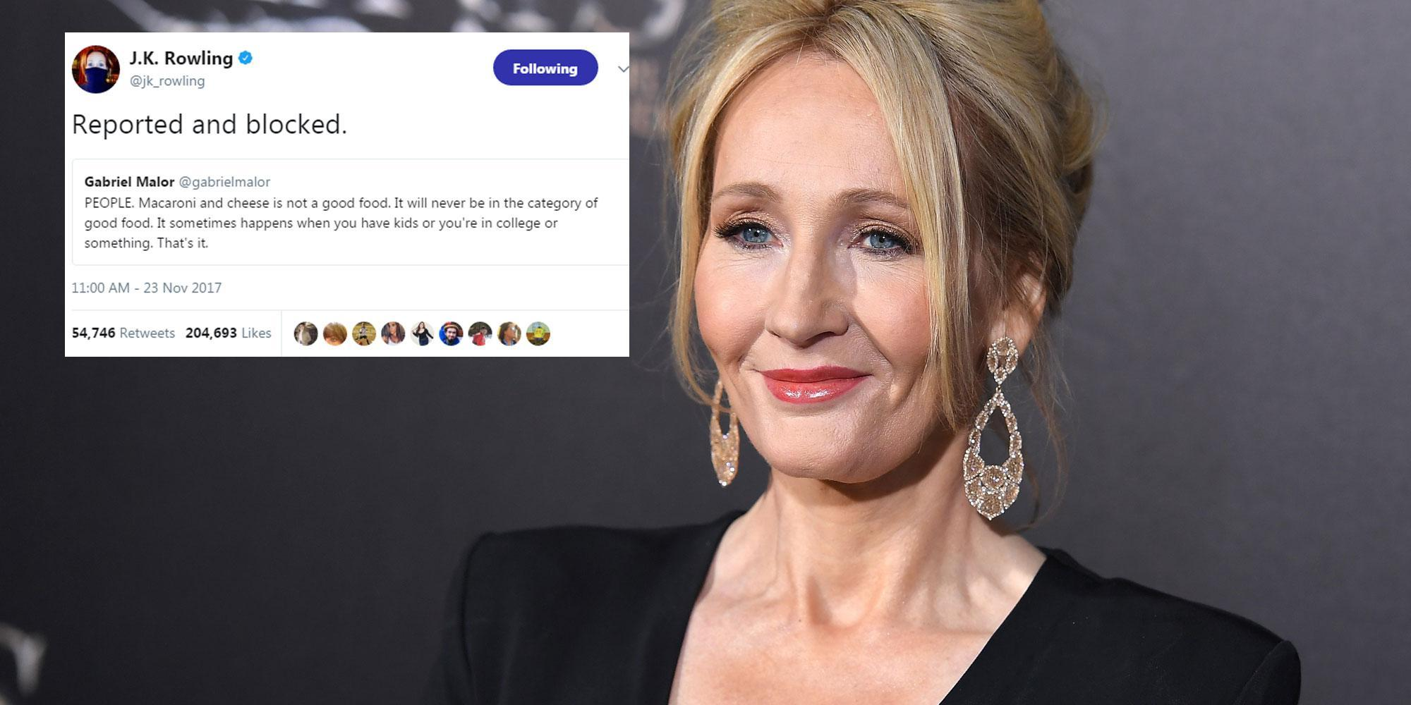 Jk Rowling Had The Best Response To This Food Monster