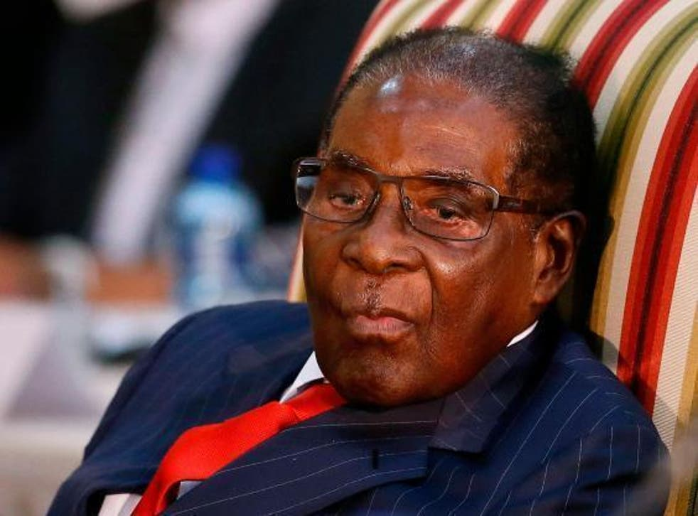 Former Zimbabwe President Robert Mugabe (above) ruled the mineral rich state for 37-years