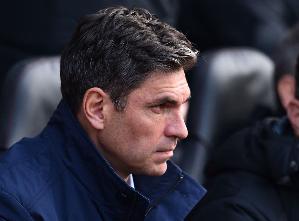 Pellegrino's substitutions were jeered by the travelling support at Fulham