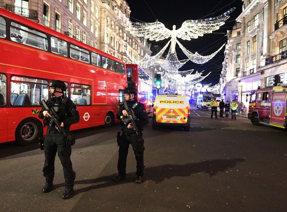 Armed police raced to Oxford Circus Tube station and Oxford Street after receiving 999 calls reporting shots had been fired