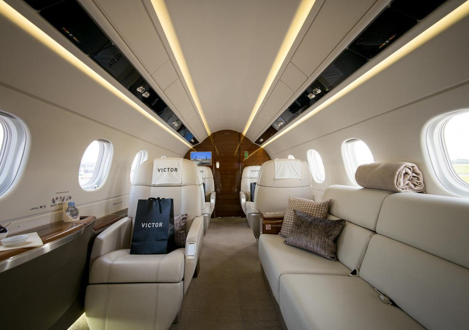 aboard victor the uber of private jets the independent