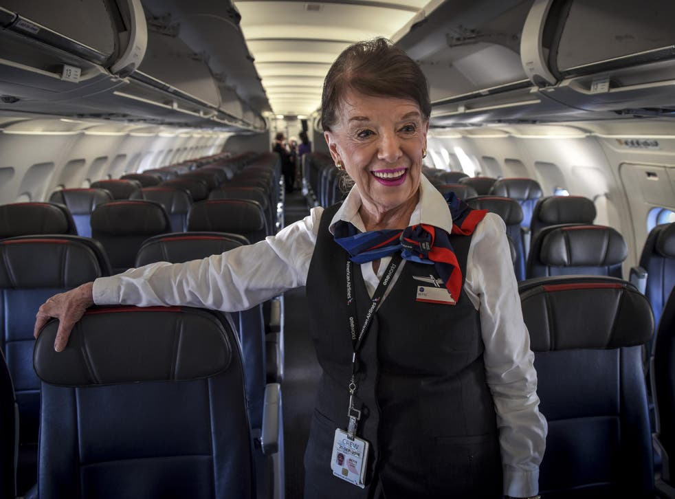 American Airlines flight attendant Bette Nash has been working in the clouds for 60 years
