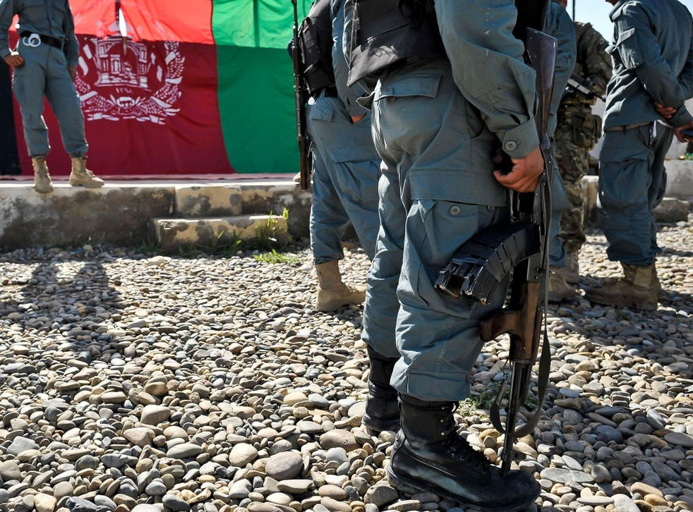 Afghan National Police in Helmand Province