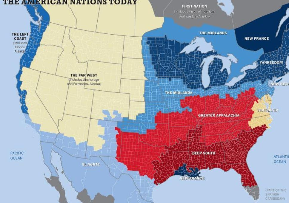 This Map Shows The Us Really Has 11 Separate Nations With Entirely
