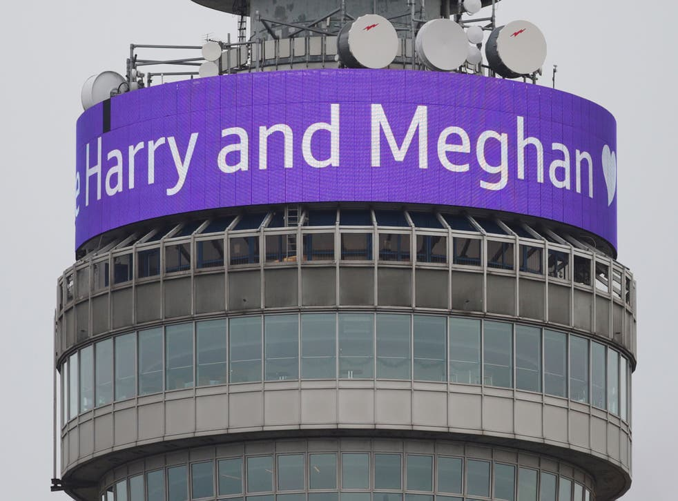 The BT Tower infoband beamed out the news of the Royal engagement.  And the BT PR man emailed journalists to make sure everyone knew about it.
