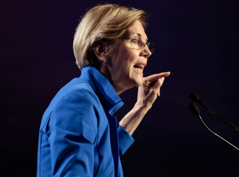 Elizabeth Warren, seen in Atlanta, Georgia on August 12, 2017, is facing a fresh attack from Donald Trump