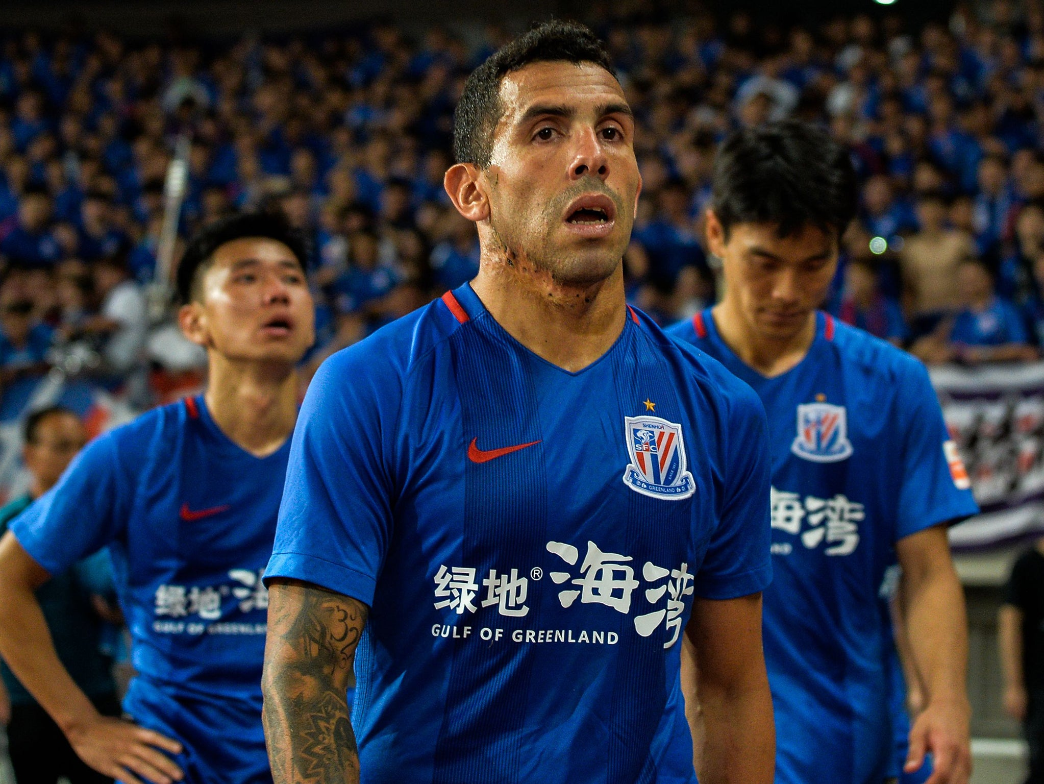 Carlos Tevez could be offered a new £34m-a-year contract despite flopping at Shanghai Shenhua