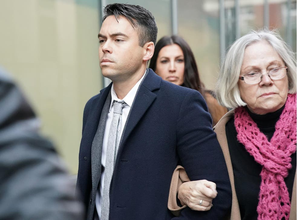 Bruno Langley arriving at Manchester Magistrates' Court, where he was told he must sign the sex offenders register for the next five years