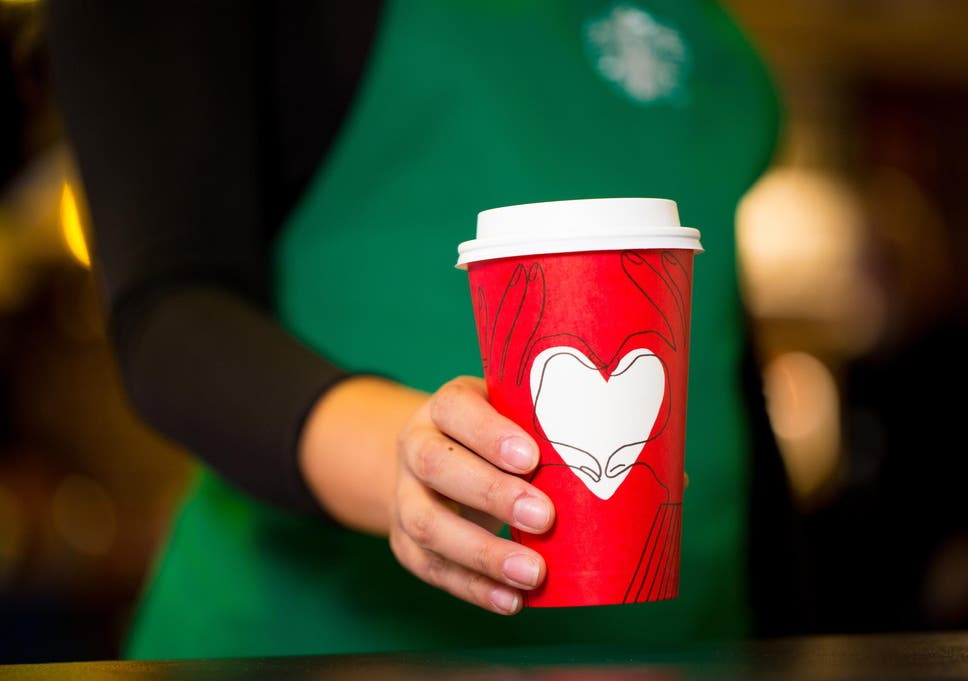 Starbucks Christmas Cups.Starbucks Launch New Christmas Cups After Same Sex Design