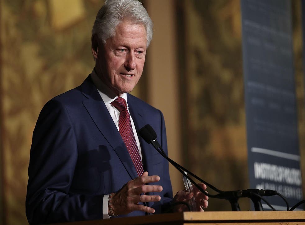Former US President Bill Clinton speaks at Georgetown University's Gaston Hall in November (Photo by Win McNamee/Getty Images)