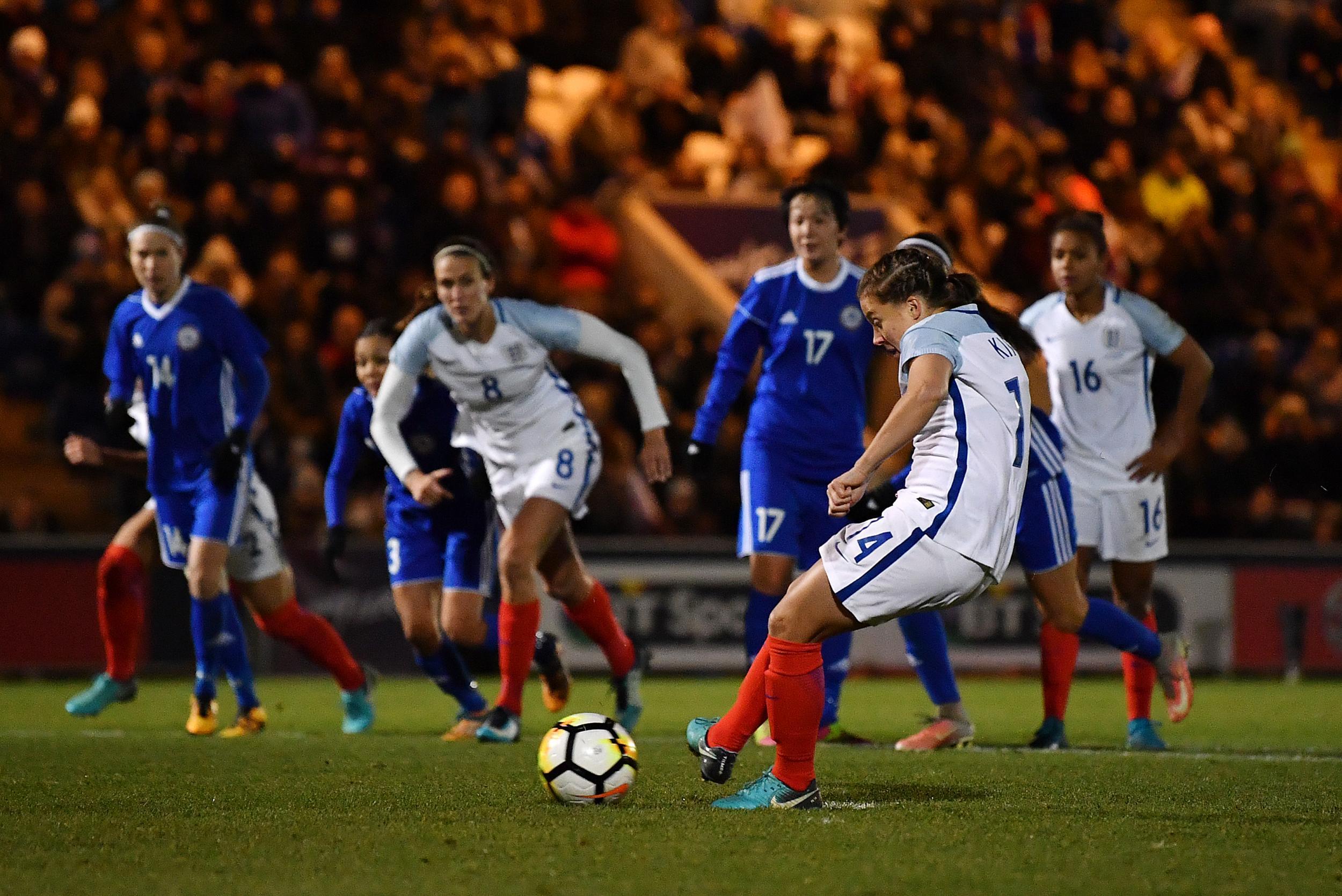 Nikita Parris strikes twice as England thrash Kazakhstan to keep on track for 2019 World Cup