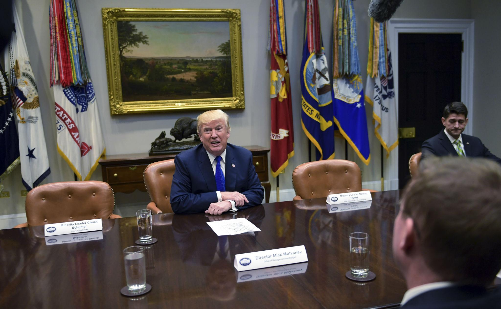 Trump hosts meeting with empty chairs for Democrats after ...