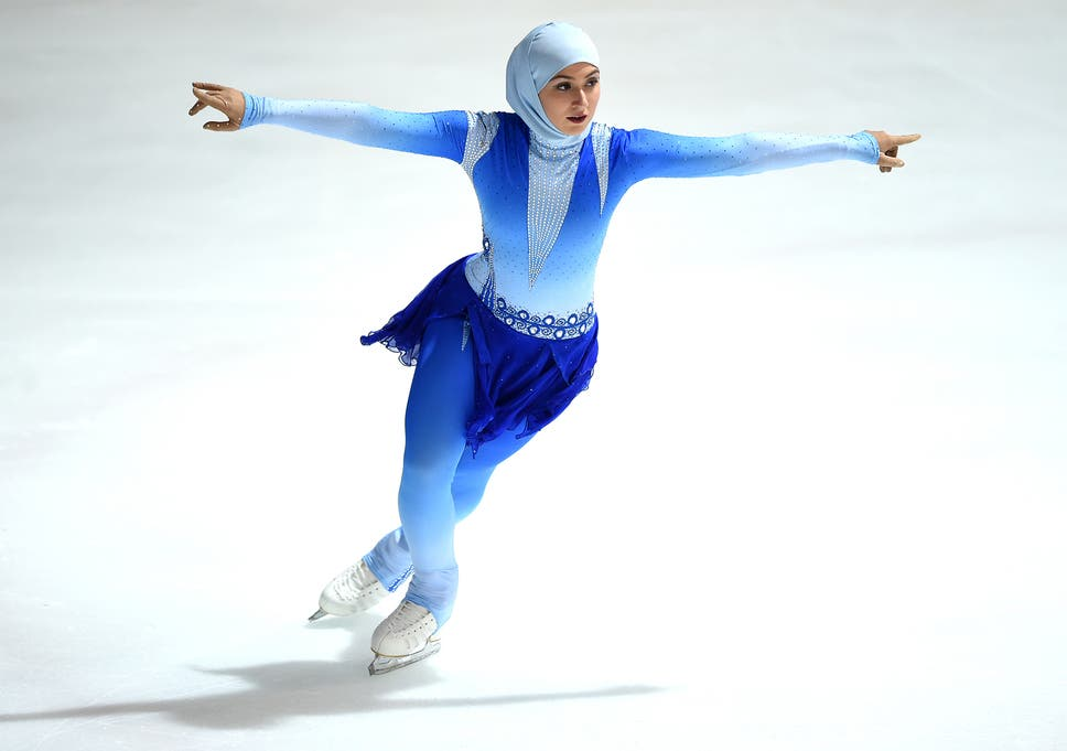 Zahra Lari was the first figure skater to compete wearing a head scarf