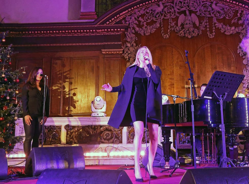 Ellie Goulding performs at The Fayre of St James