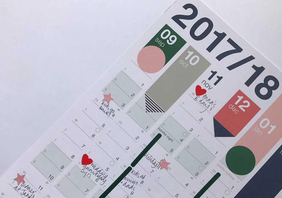get ready for a new year with a planner for your wall or desk