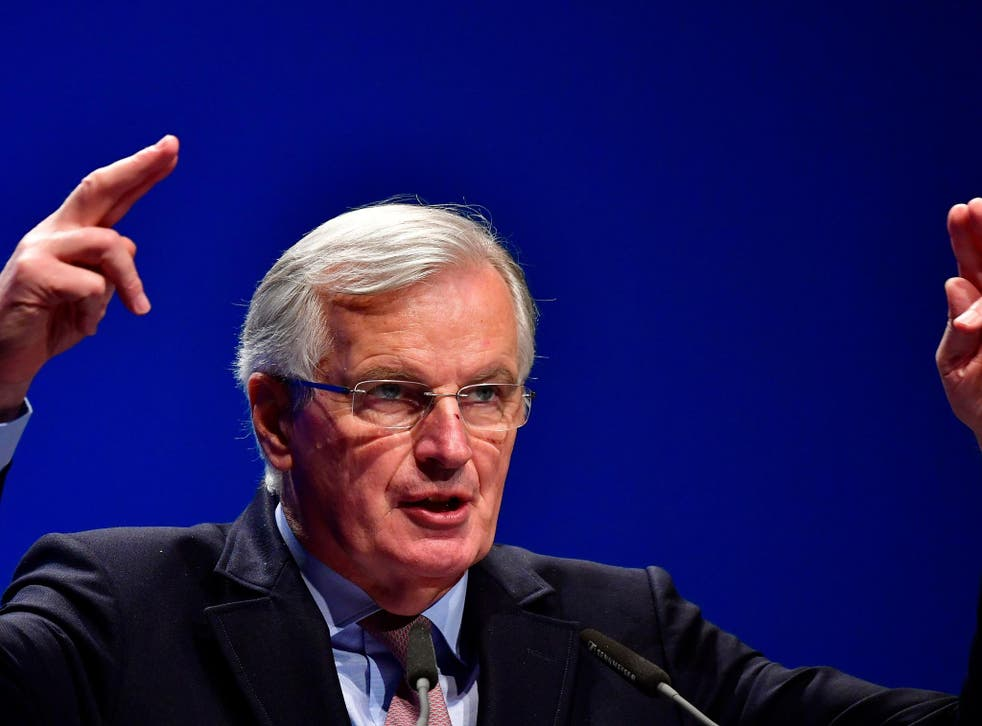 'They have to face the consequences of their own decision,' says Mr Barnier of the UK's trade negotiations