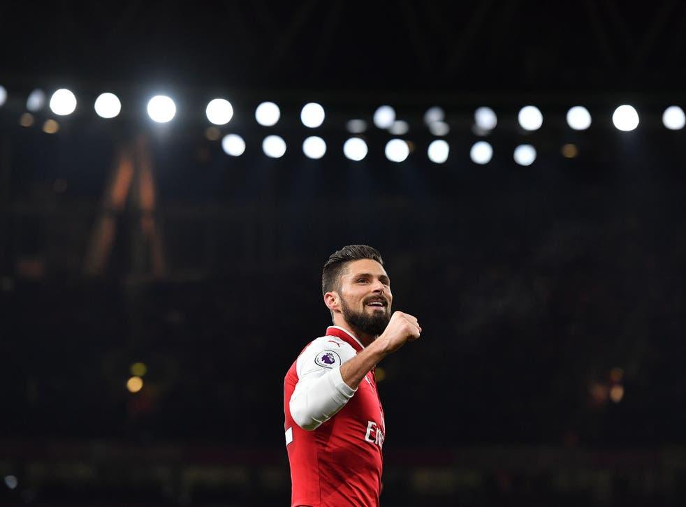 Giroud doubled Arsenal's lead