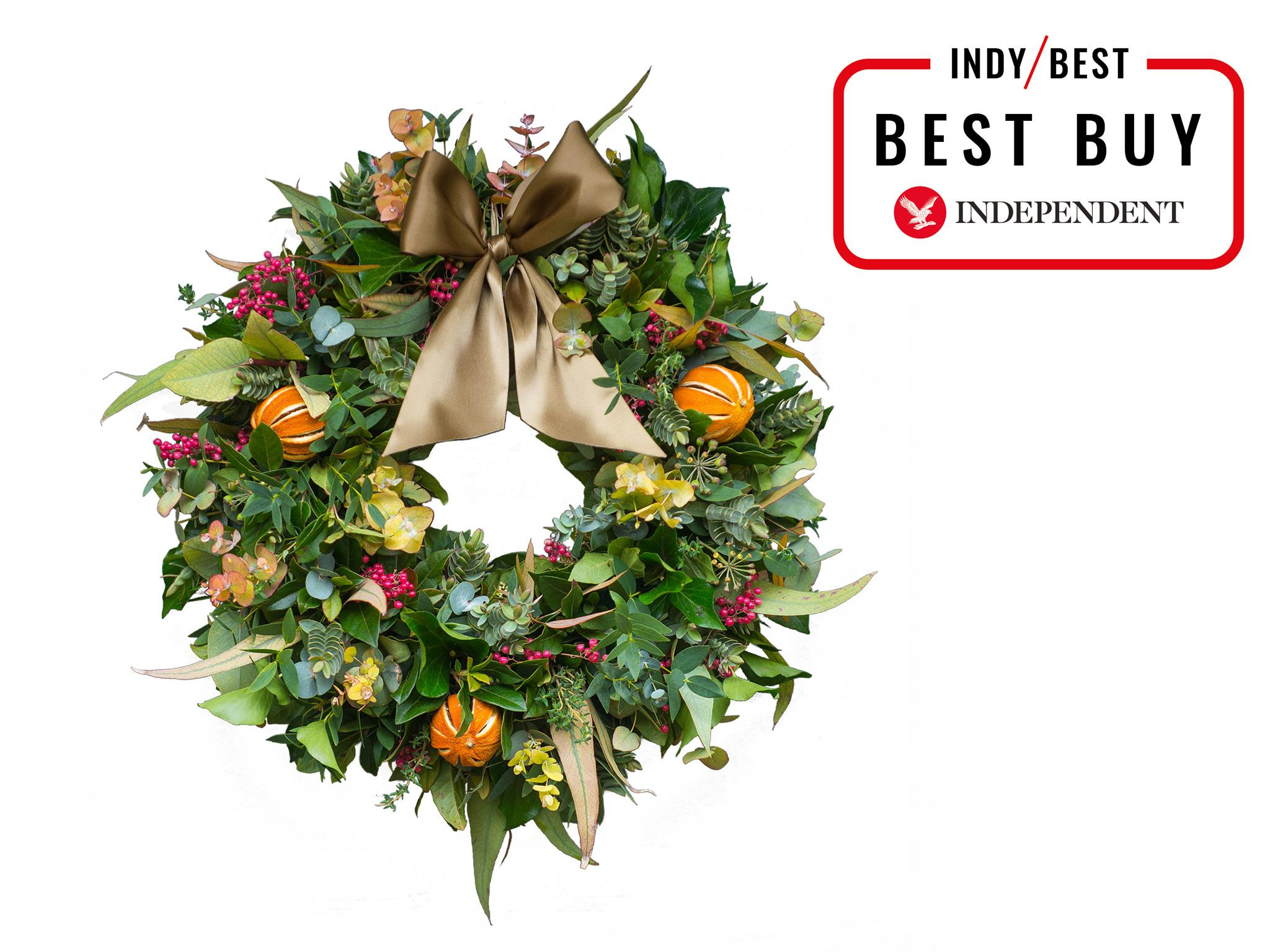 The Real Flower Company Citrus and Spice Door Wreath 35.5-38cm diameter £85 The Real Flower Company  sc 1 st  The Independent & 13 best real wreaths | The Independent