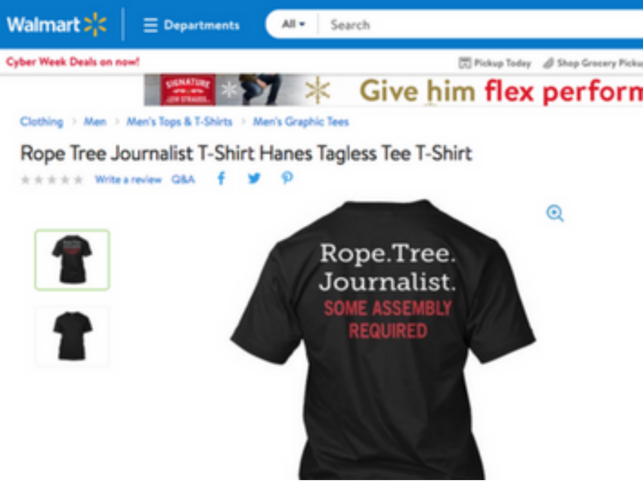 Walmart pulls t-shirt that encourages hanging journalists | The ...