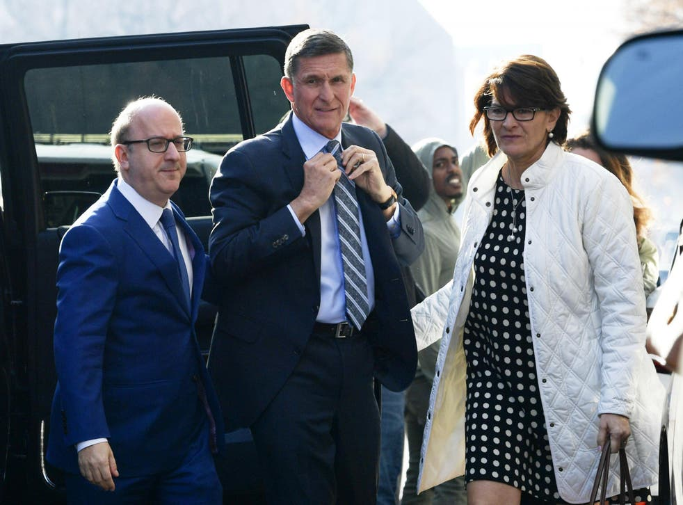 Mr Flynn pleaded guilty to one charge of lying to investigators when he appeared in court