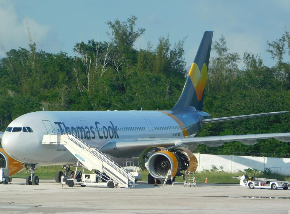 The Thomas Cook plane developed a fault as it departed Cuba