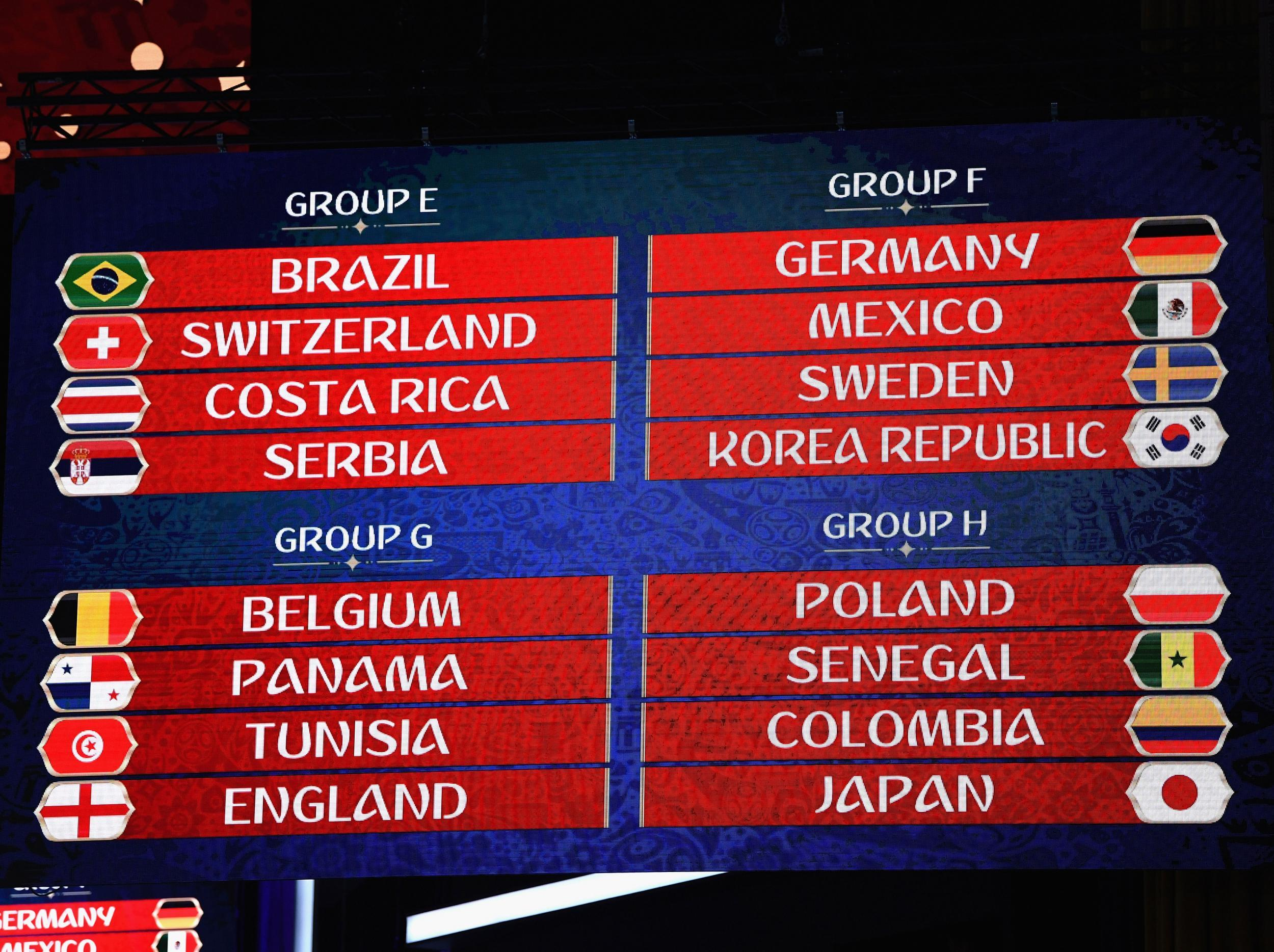 World Cup Draw 2018 Tv Schedule