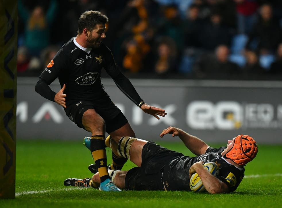 Kearnan Myall scored the match-winning try for Wasps against Leicester Tigers