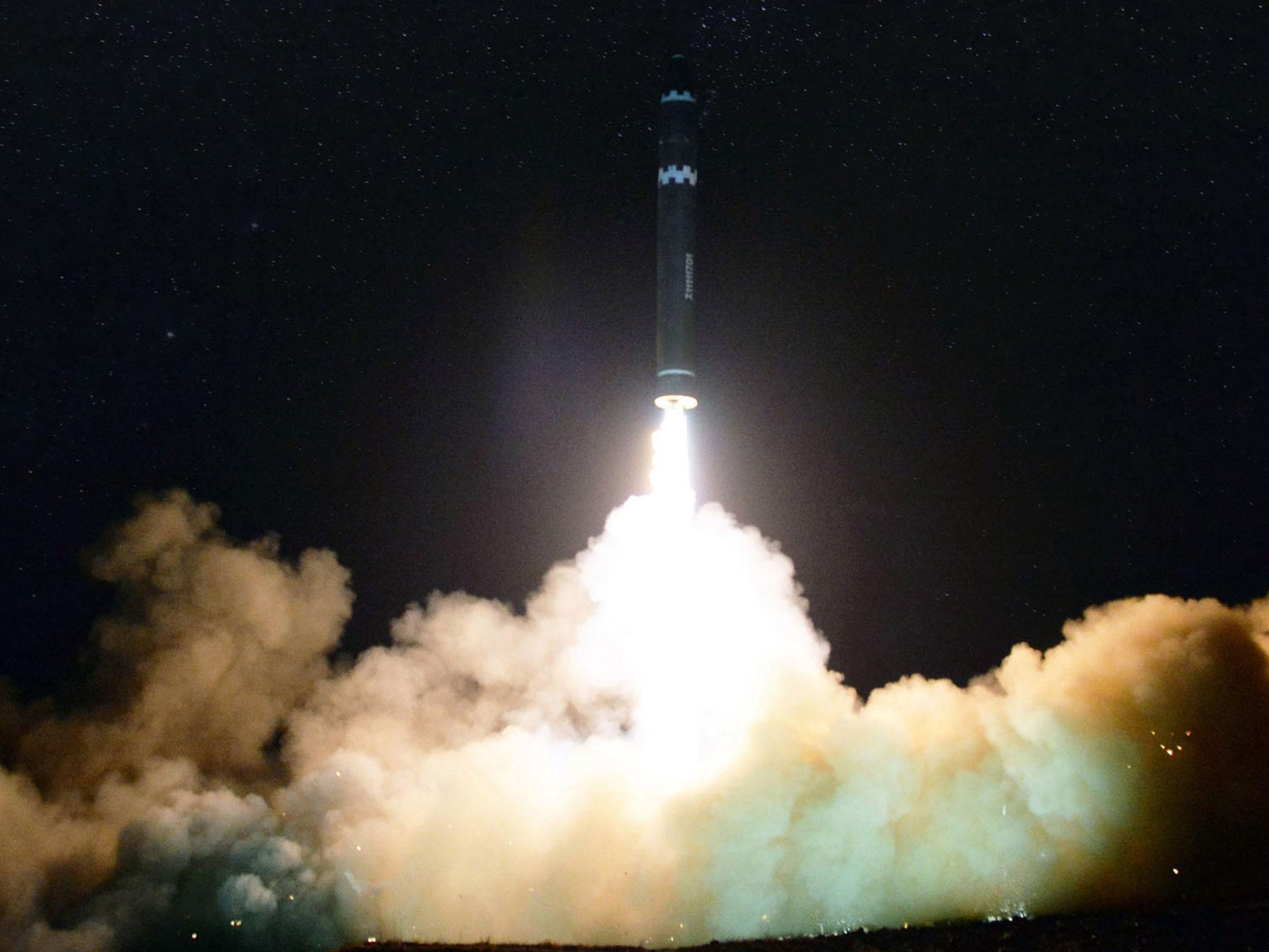 North Korea's biggest ever missile broke