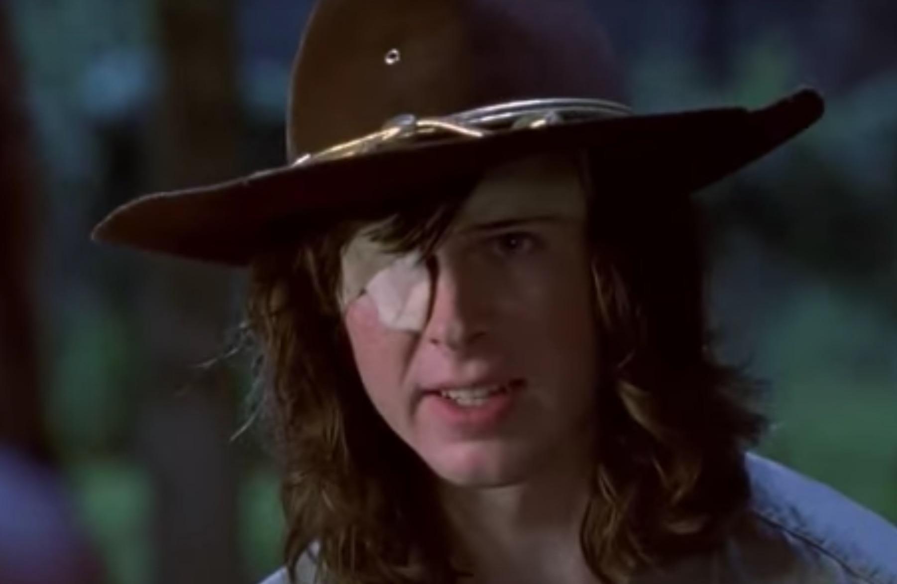 Walking Dead Carl Auge