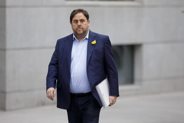 Ousted vice president of the Catalan government Oriol Junqueras