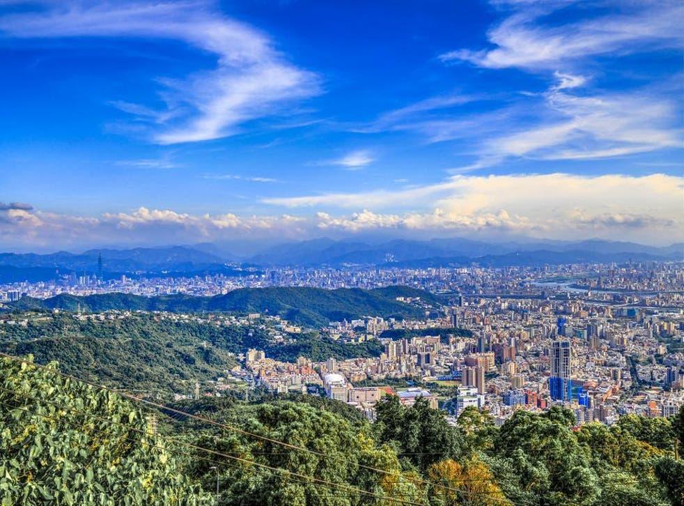 Taipei City seen from Yangmingshan National Park