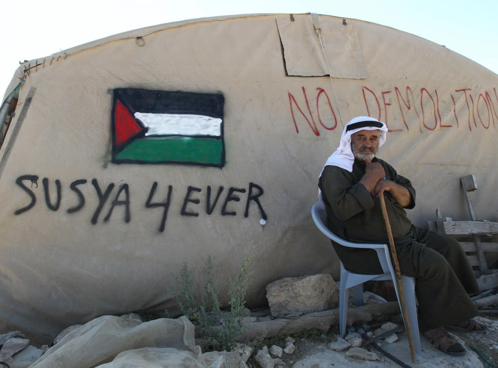 Palestinian residents of Susiya have resorted to living in tents after bricks-and-mortar constructions were torn down