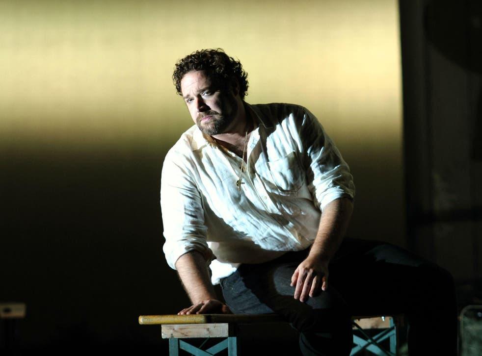 Bryan Hymel as the seducer Turiddu in Mascagni's 'Cavalleria Rusticana' at the Royal Opera House