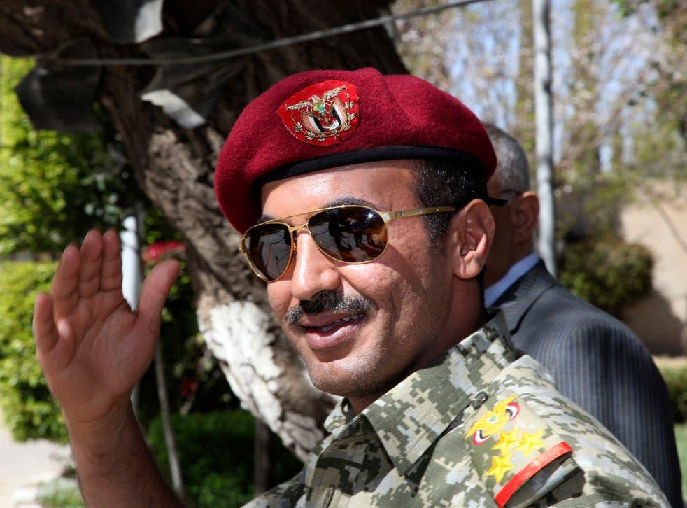 Ahmed Saleh, the son of Yemen's former-president Ali Abdullah Saleh who was killed earlier this week