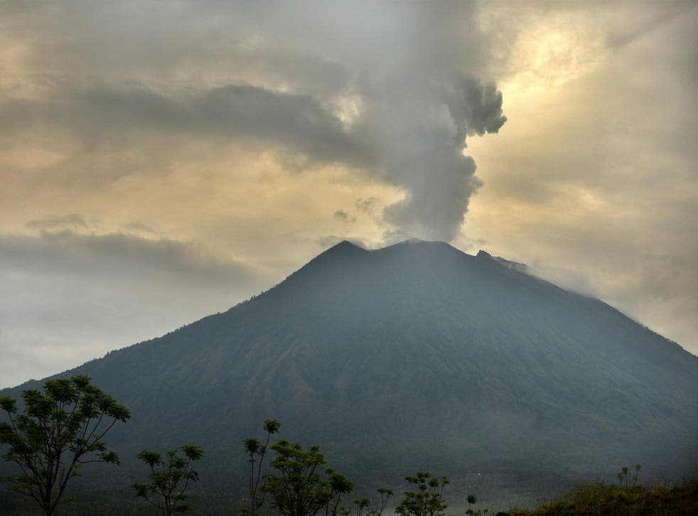 Mount Agung is currently on Amber Alert