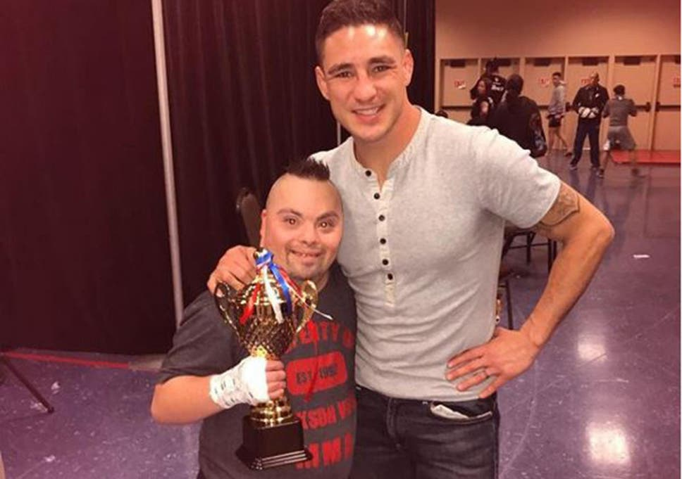 UFC star Diego Sanchez fights fan with Down's Syndrome in