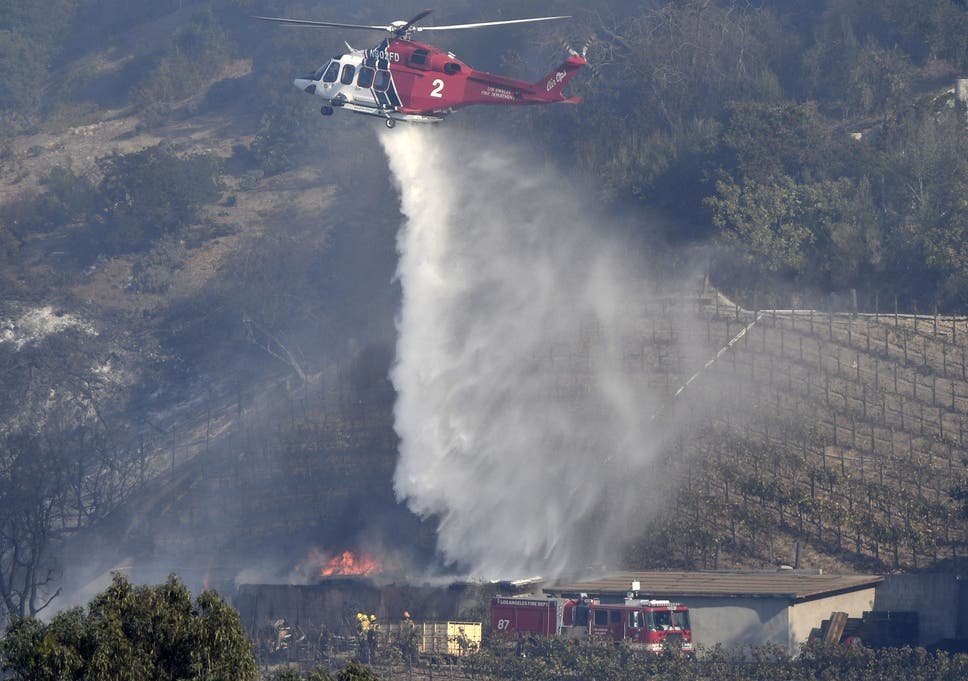 LA City Firefighters Try To Save A Winery Storage Building That Is Own By Billionaire Rupert