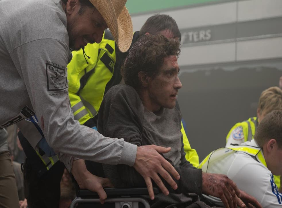 The drama is based on the memoir of Jeff Bauman Jr, who lost his legs in the Boston Marathon bombing