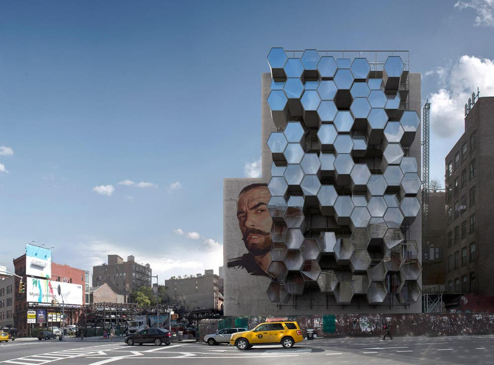 The proposed design of the pods uses hexagonal shapes