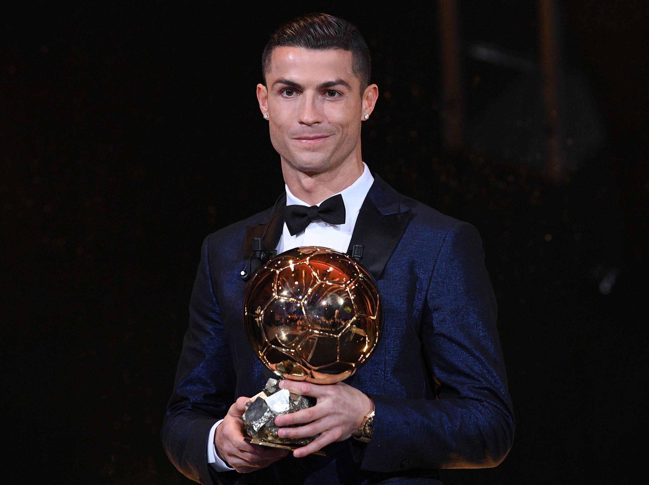0d8333616f16 Ballon d'Or 2017: Cristiano Ronaldo wins prestigious award for fifth time  to equal Lionel Messi's record haul
