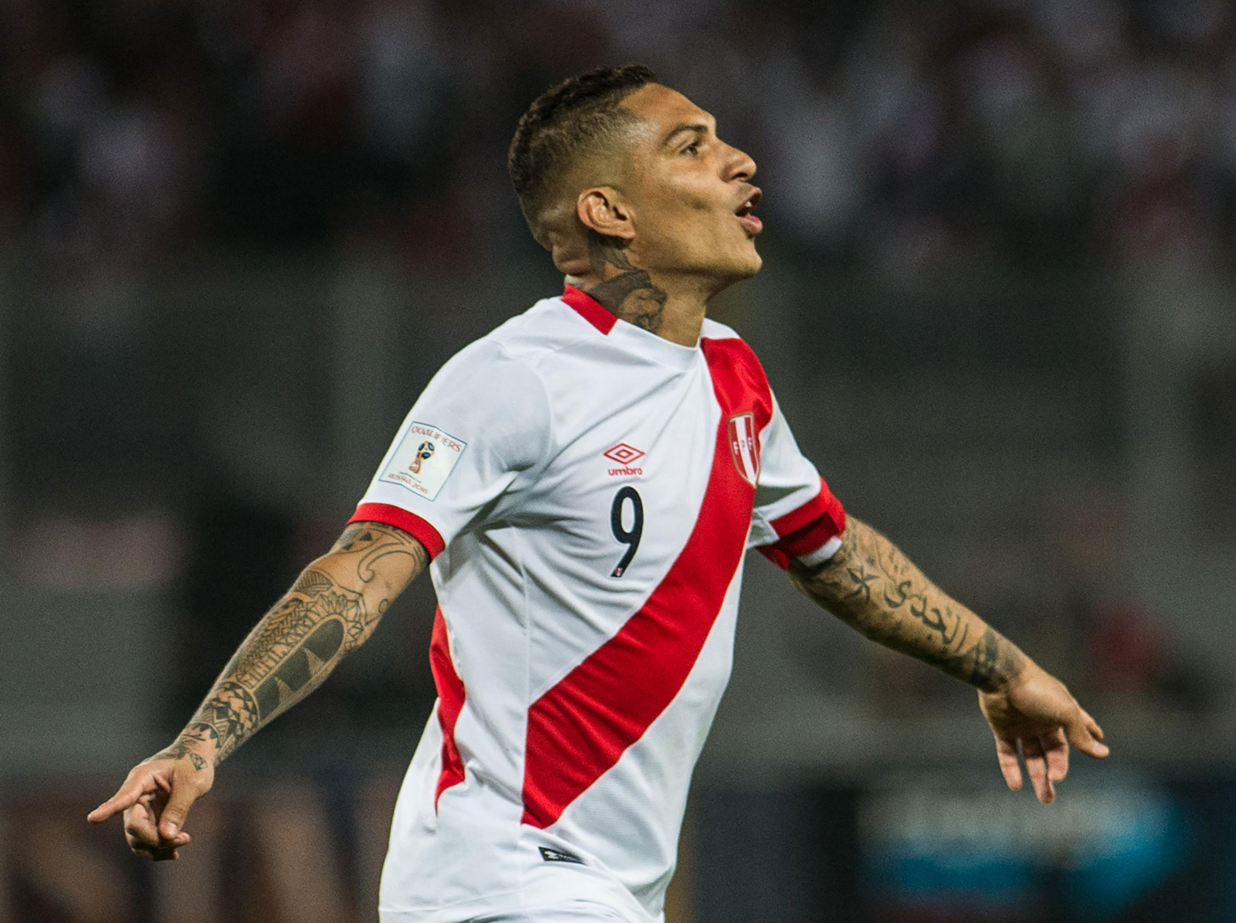 Peru captain Paolo Guerrero out of World Cup after testing positive for cocaine