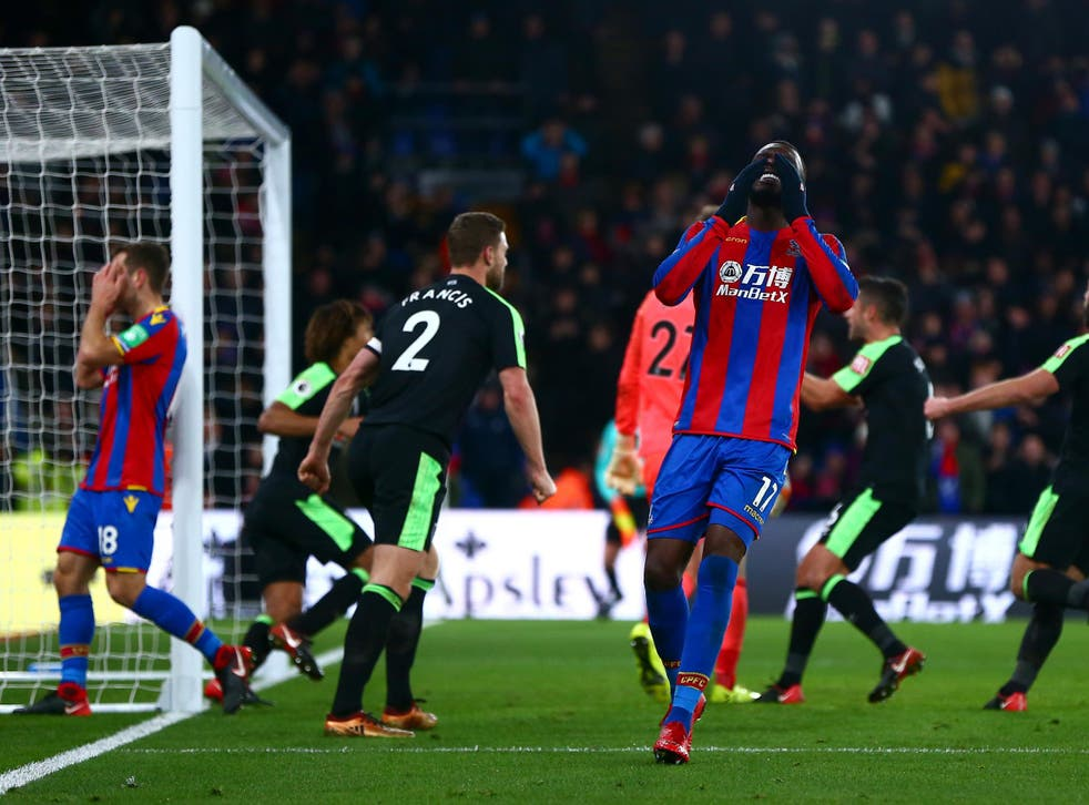 Benteke took over penalty duties but missed in the 93rd minute